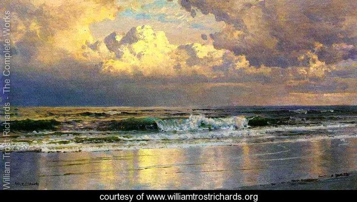 Sometimes an artist just shines head and shoulders above others .. Beach at Atlantic City - William Trost Richards - www.williamtrostrichards.org