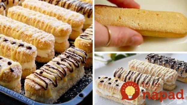 Perfektný dezert po ktorom si oblížete všetky prsty: Lepené dlhé piškóty s výborným krémom obalené v kokose!