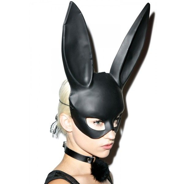 Gettin' Busy Bunny Mask (€8,94) ❤ liked on Polyvore featuring costumes, bunny rabbit costume, leg avenue, leg avenue costumes, bunny costume and bunny halloween costume