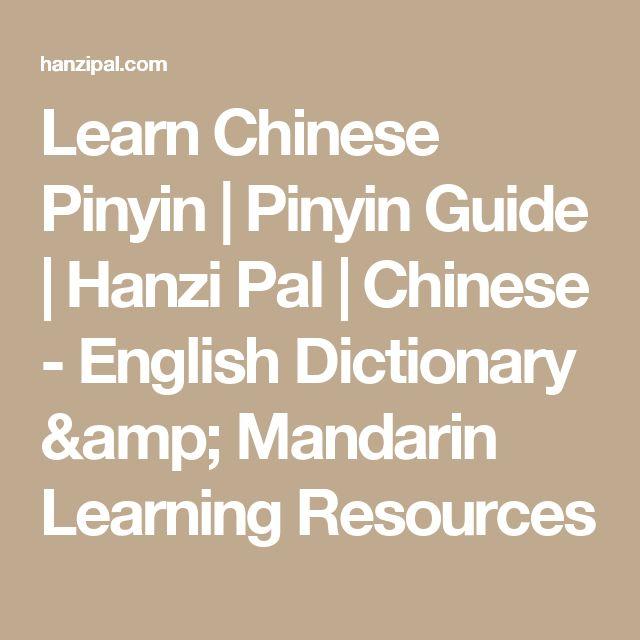 Learn Chinese Pinyin | Pinyin Guide | Hanzi Pal | Chinese - English Dictionary & Mandarin Learning Resources