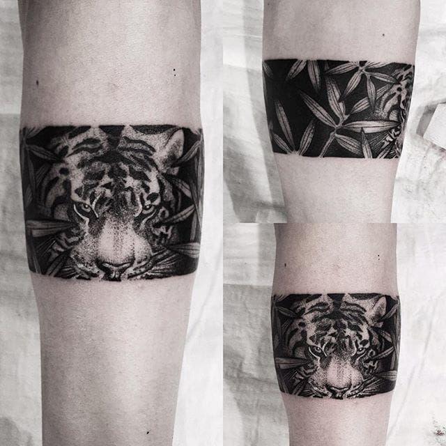 Fantastic tiger bracelet SouTattooer