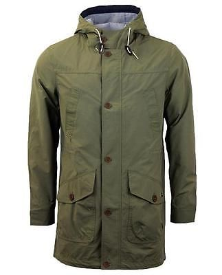 Mens Merc Boynton Khaki Fishtail Parka Style Lightweight Hooded Coat/Jacket