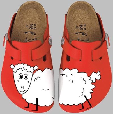 birki's with sheep