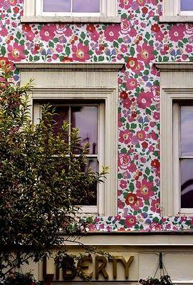 Liberty of London's wallpapered facade