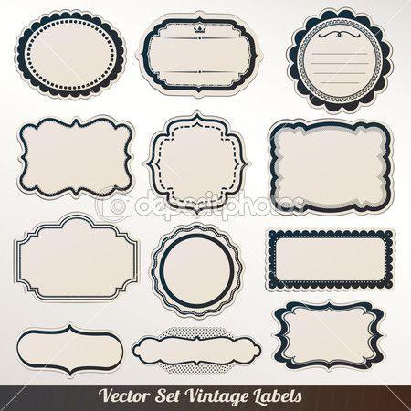 Wektor ramki etykiety zestaw ozdobnych sztuka dekoracji — Grafika wektorowa © alvaroc #13341272
