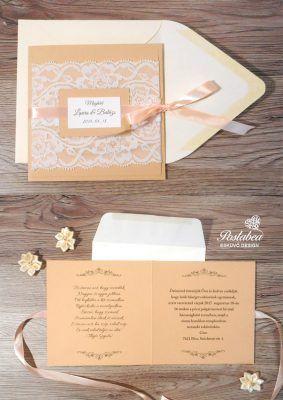 barack csipkés esküvői meghívó