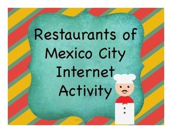 Engaging restaurant internet activity that uses real-life skills that students need!
