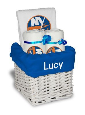 9 best new york islanders baby gifts images on pinterest baby our personalized new york islanders small gift basket is a perfect hockey baby gift with 2 negle Choice Image