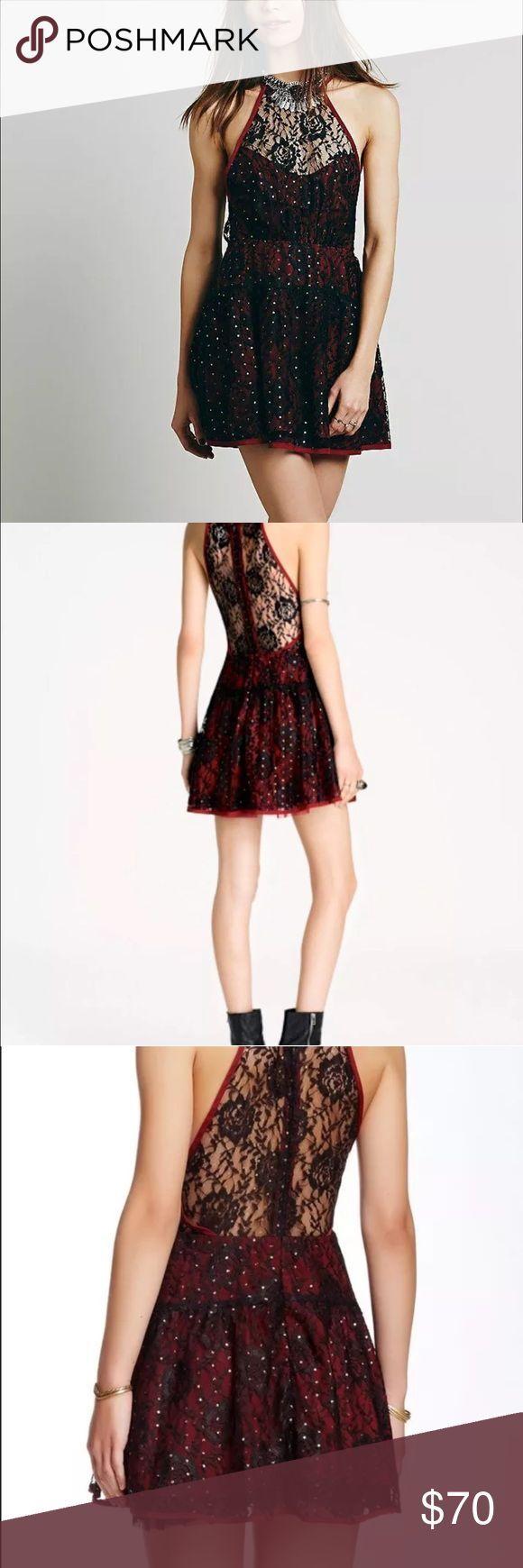 Lace dress mini golden