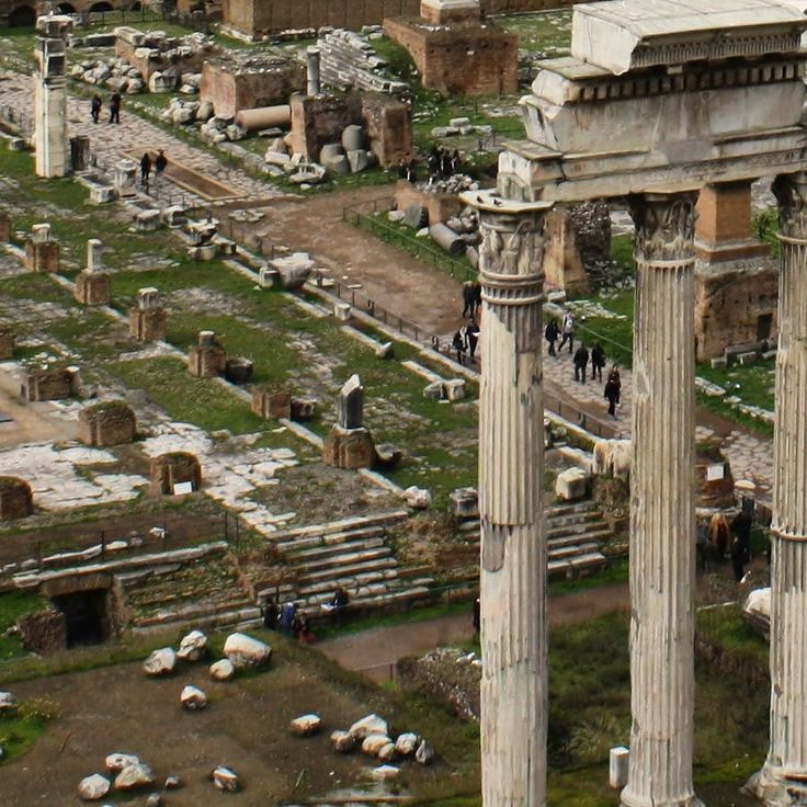 Rome / Italy Picturesque Roman Forum is a trace of its former splendor empire.
