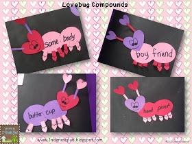 Classroom Freebies Too: Valentine Compound Words & Craftivity