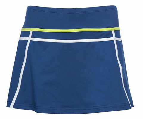 Pure Lime Tennis Two Tape Skort - Limoges/White/Brite Lime