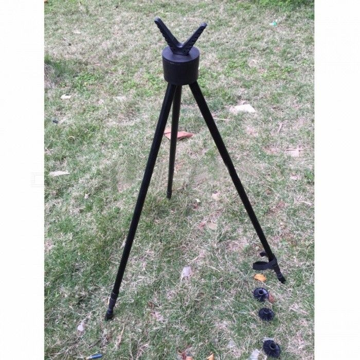 Hunting Shooting Tripod Fishing Walking Tripod Shooting Stand Gun Rifle Stability Tripod Hunting Product Matt Black
