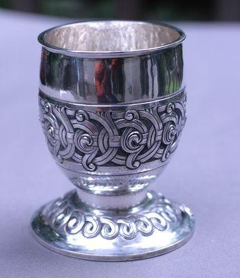 Norway Henrik Moller Dragestil Repousse and Chiseled Goblet Silver 830s | eBay