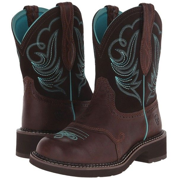 Ariat Fatbaby Heritage Dapper (Royal Chocolate/Fudge) Cowboy Boots ($90) ❤ liked…