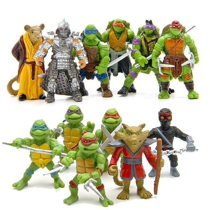 TMNT teenage mutant ninja turtles action figures set 2016 New TMNT Tees action figure 1988 Leonardo neca revoltech  party supply