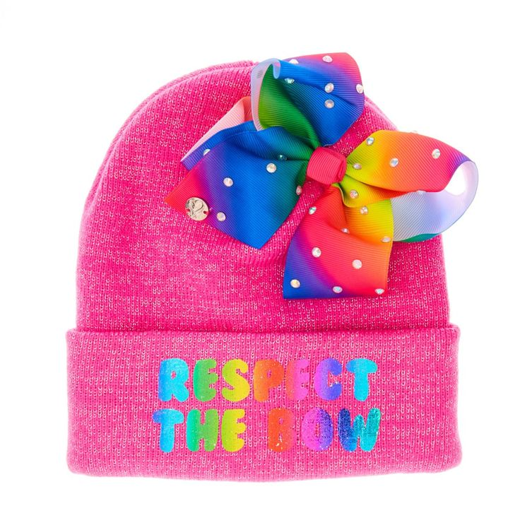 """JoJo Siwa Pink """"Respect The Bow"""" Hat 