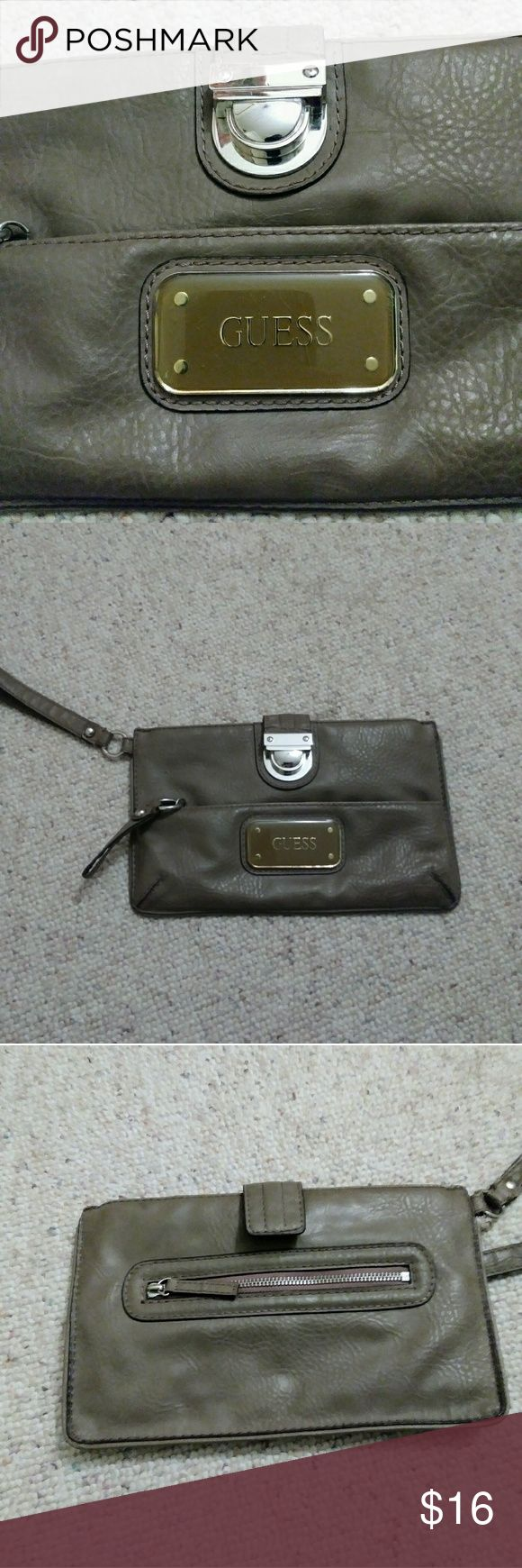 NWOT Guess Faux Leather Clutch Evening Bag A slim, minimalist silhouette in soft pebble faux leather, this GUESS clutch wallet is a great wardrobe basic. Guess Bags Clutches & Wristlets