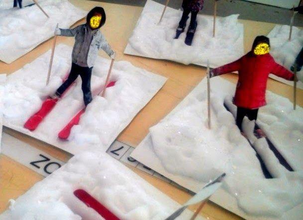 Els nostres moments a l'aula d'infantil: En Invierno esquiamos!