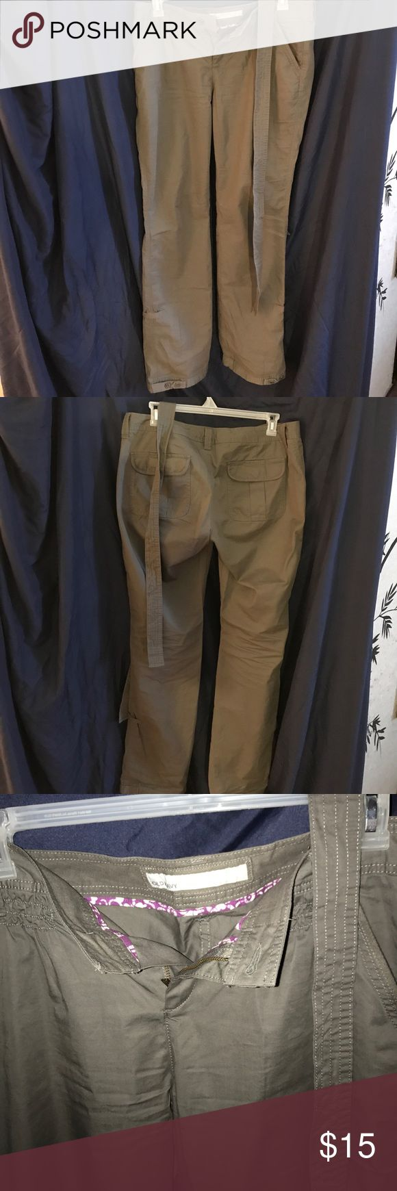 Cargo pants Gray cargo pants with a sash styled belt Old Navy Pants