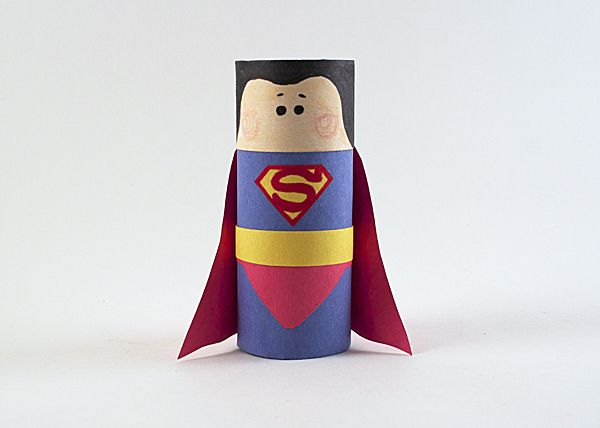 It's a bird! It's a plane! No, it's Cardboard Tube Superman! What a cute way to get kids excited for the Batman v. Superman movie!