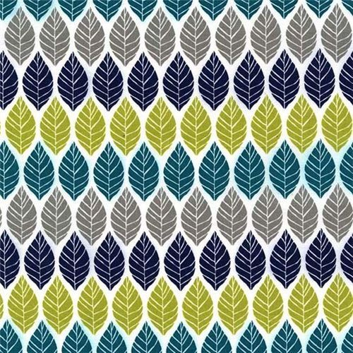 Leaf Press teal Michael Miller leaf fabric Rustique