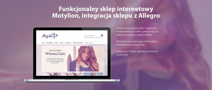 Funkcjonalny #sklep_internetowy Motylion, integracja sklepu z Allegro #migomedia #eklep #sklepinternetowy #e-sklep