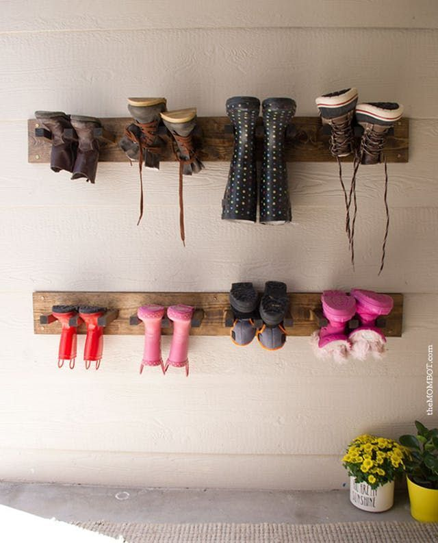 DIY Boot Storage Ideas for Fall  Winter DIY Shoe Storage for