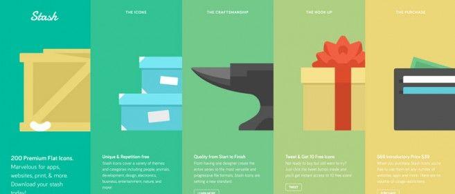Flat design in web design inspiration