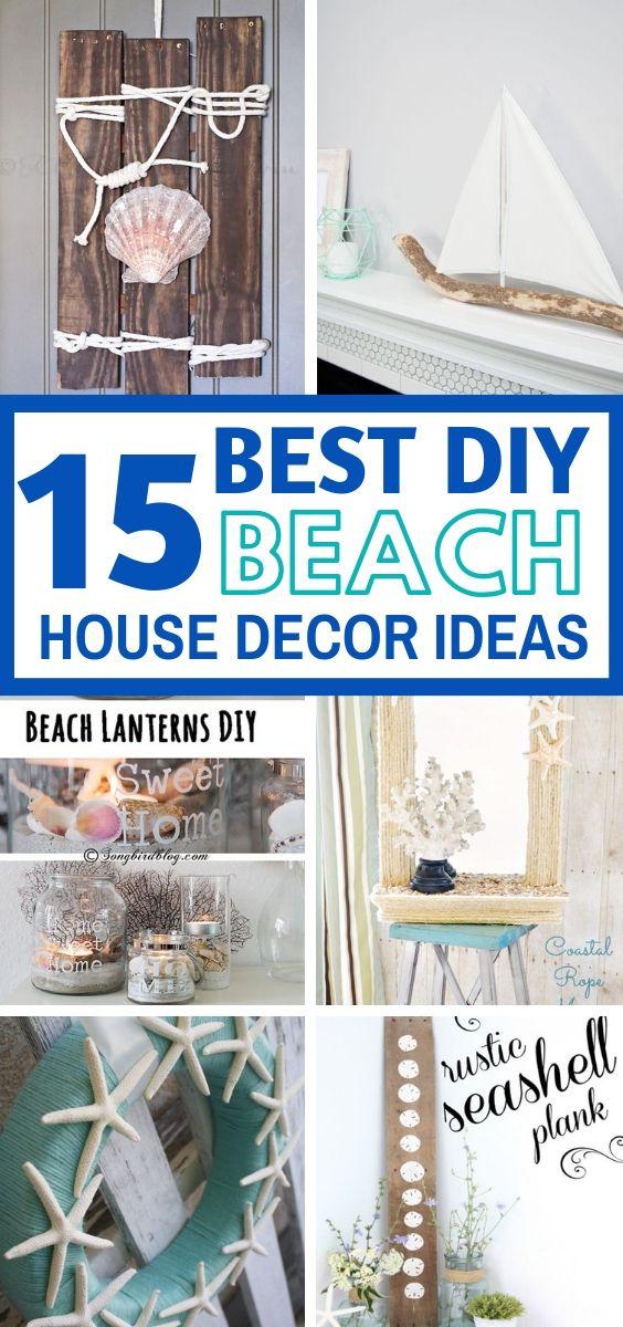 15 Diy Beach House Decor Ideas For A Fresh Look Craftsonfire Beach Bedroom Decor Beachy Room Decor Diy Beach Decor