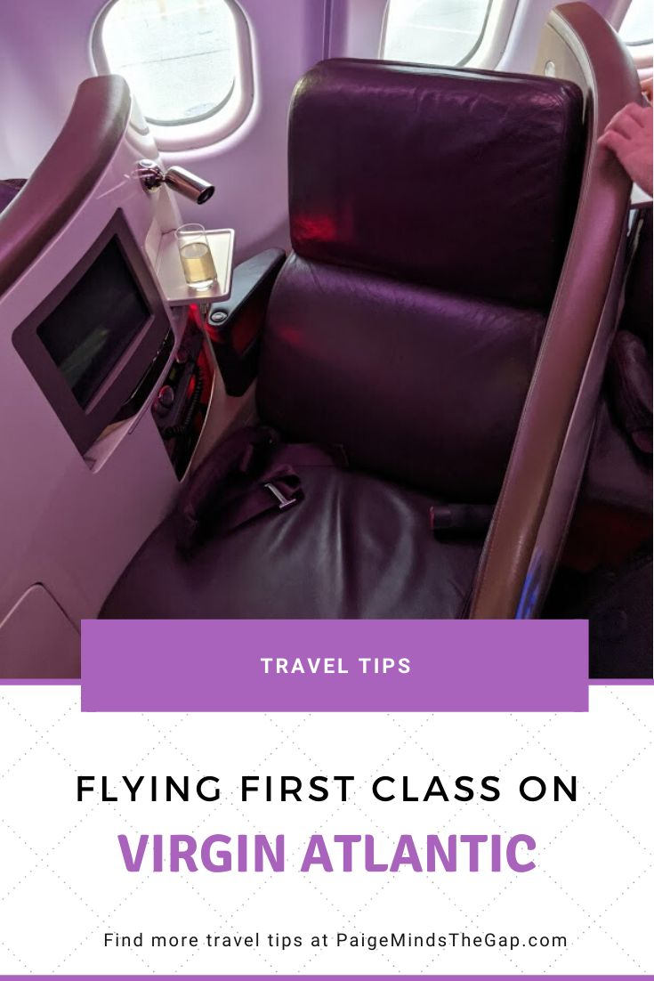 Flying first class on virgin atlantic my virgin atlantic