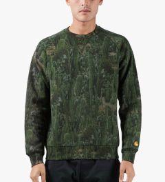 Carhartt WORK IN PROGRESS Cactus Print Sierra 13oz Sweater Model Picutre