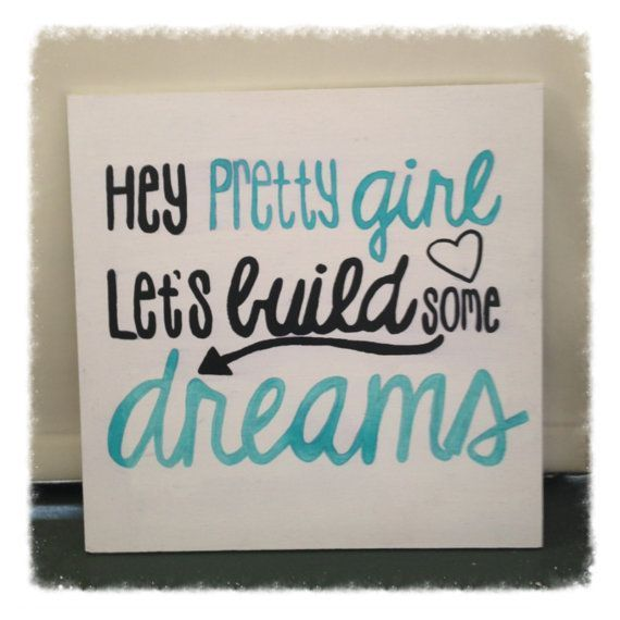 Country Quote Wall Decor Hey Pretty Girl by BeingBecca on ... #Christmas #thanksgiving #Holiday #quote