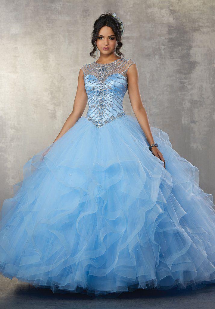 7abd05e1aaa Beaded Illusion Quinceanera Dress by Mori Lee Vizcaya 89169-Mori Lee Vizcaya-ABC  Fashion