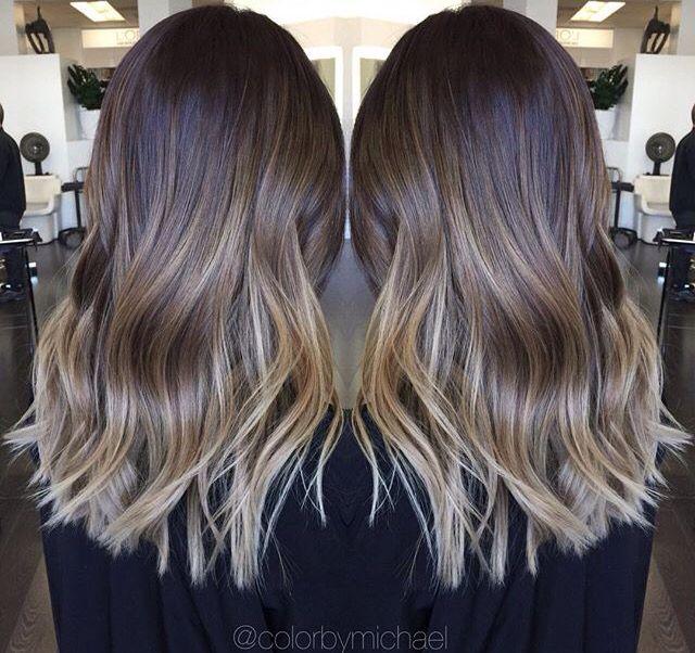 Medium Length Ombre Hair Blonde And Brown Hair
