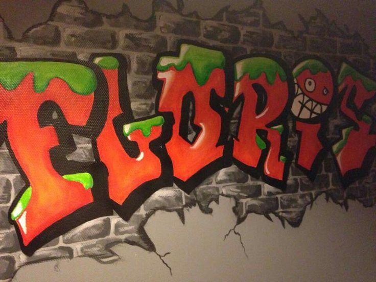 Grafitti in muurverf. Stinkt toch een heel stuk minder (en beter voor de ozonlaag)