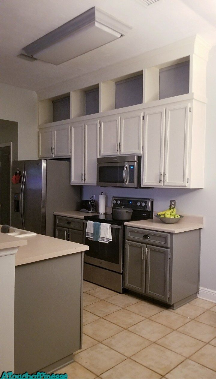 Kitchen Makeover Part 2 Building Cabinets To Ceiling A Touch Of Finesse Cabinets To Ceiling Kitchen Cabinets To Ceiling Building Kitchen Cabinets
