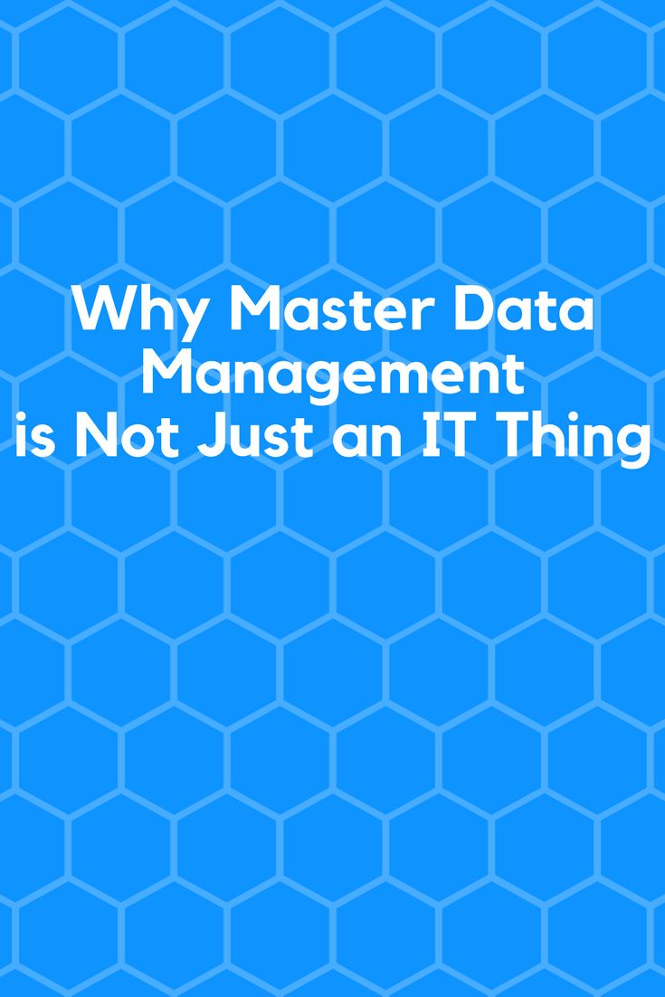 Why Master Data Management is Not Just an IT Thing