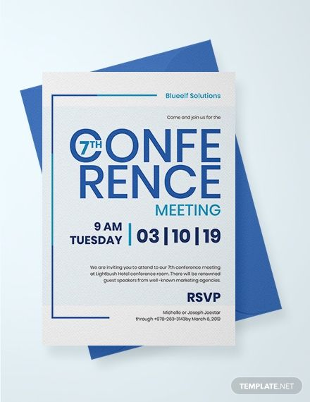 This Invitation Template Is Ideal For Any Individual Or Company Planning To Host A Conference Meeting