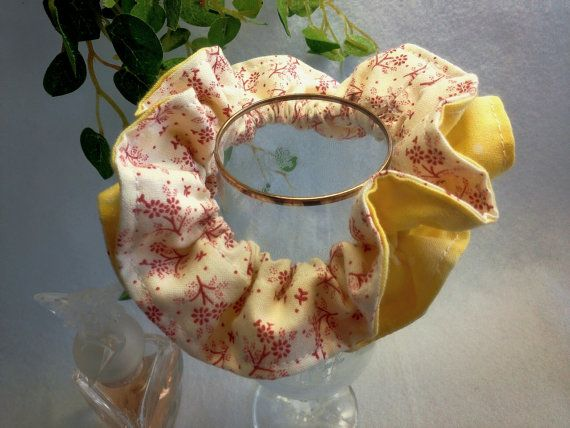 "Japanese hand kawaii shushu / Reversible and Frilled Scrunchy / Scrunchie - 3.9"" (10cm) / #12 by YuminaCafe, ¥500"