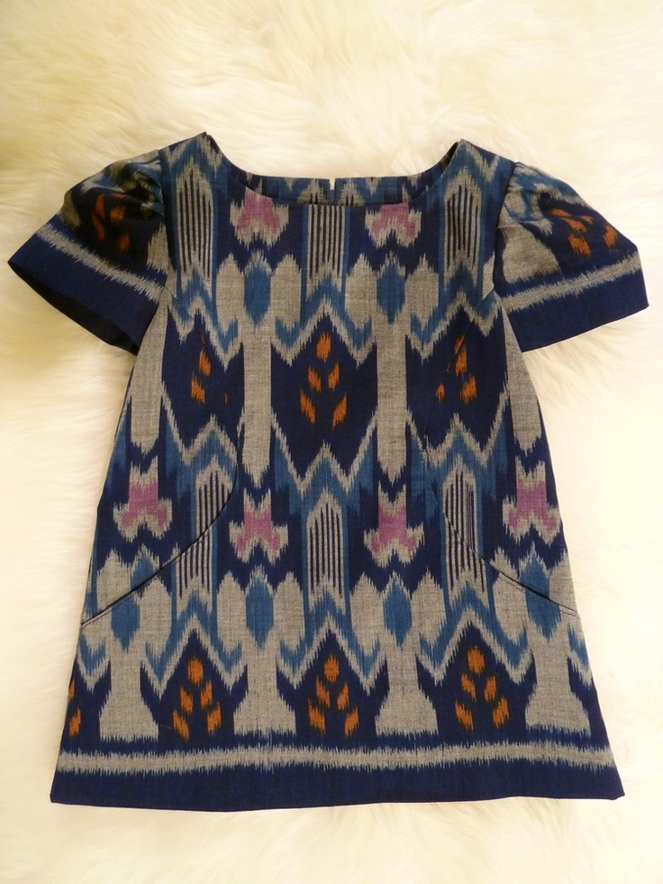 handwoven Balinese ikat pocket dress