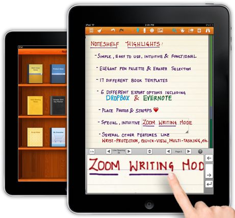 Best note taking app for the iPad! Noteshelf