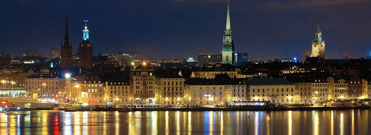 Night view of the Gamla Stan (The Old Town) in Stockholm, Sweden