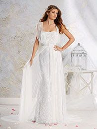 Alfred Angelo 8540- Lace gown with jacket- Sugar and Spice UK - Lincoln