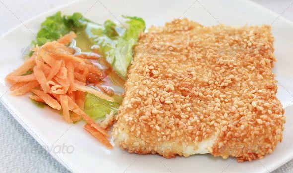 Fried Greek Feta Cheese With Sesame
