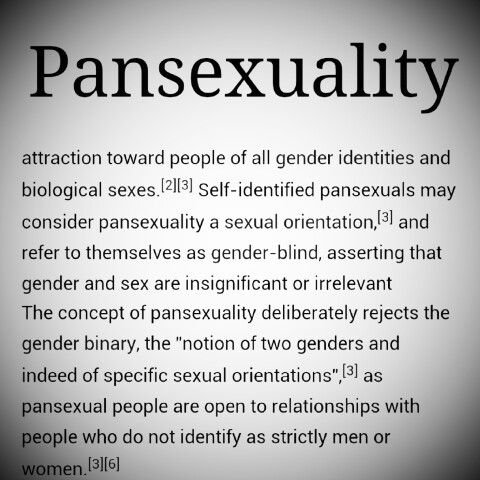 """This is pansexuality- not """"IDGAF what part you have or don't have""""."""