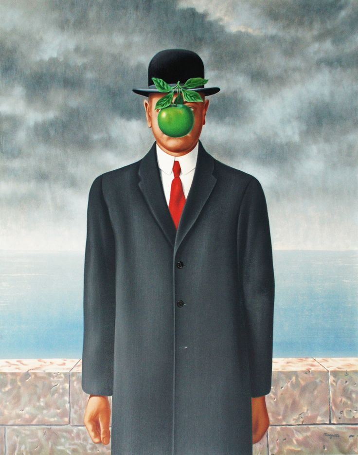 Rene Magritte - 'The Son of Man' (1964) Surrealism