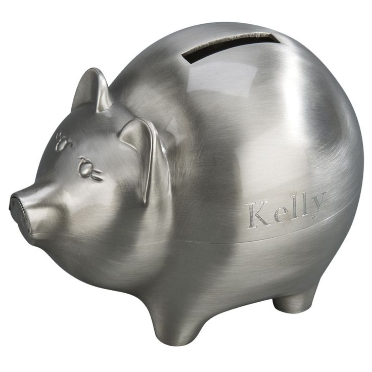 New Silver Plated Baby Pig Money Boxpiggy Bankchristeningbaby