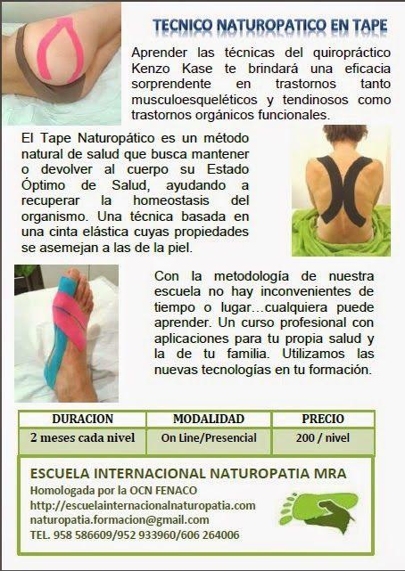 Un método natural de salud..NATUROPATIA: Curso Profesional de Tape Naturopático