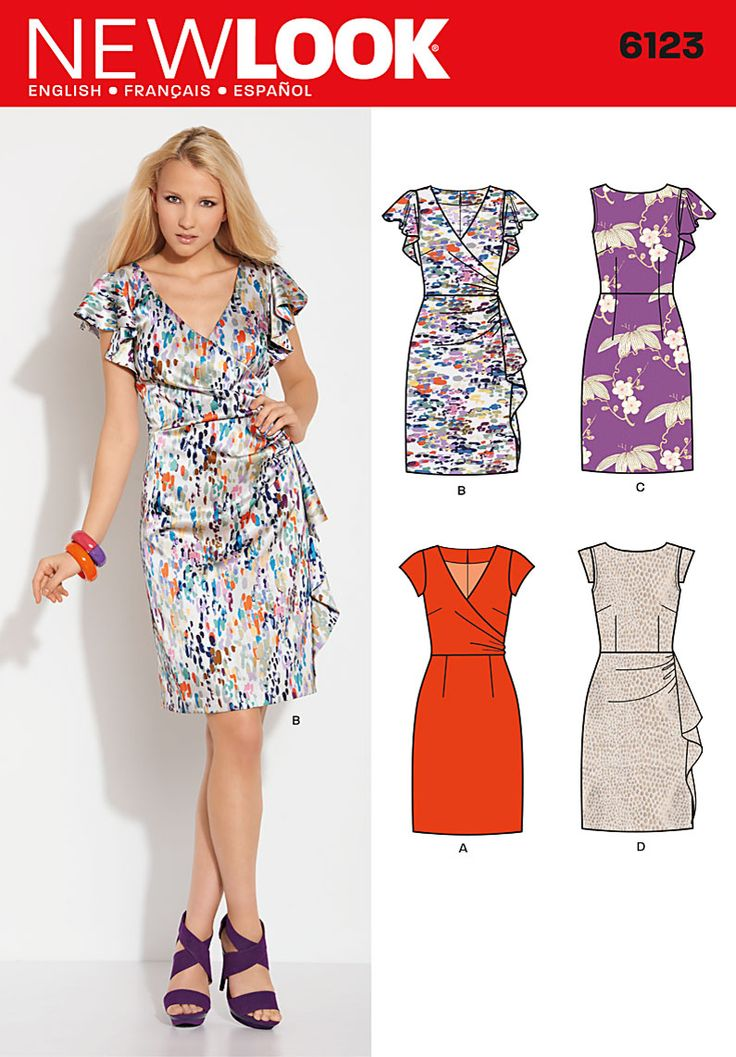 New Look 6123 from New Look patterns is a Misses Dress sewing pattern